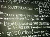 Sign board at Jelly Liverpool